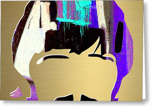 Ringo Starr Gold Series Greeting Card by Marvin Blaine