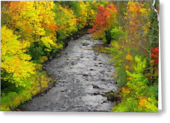 A River In Autumn Greeting Cards - River In Autumn Greeting Card by Pat Now