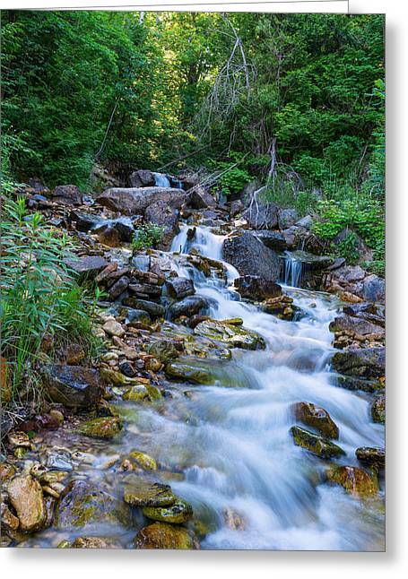 River In Bruce Peninsula Ontario Canada Greeting Card by Marek Poplawski