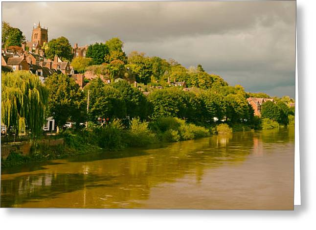 Muddy Waters Greeting Cards - Riverside in Bridgnorth England Greeting Card by Mountain Dreams