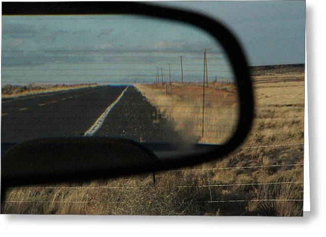 The Petrified Forest Greeting Cards - Road Greeting Card by Guido Prussia