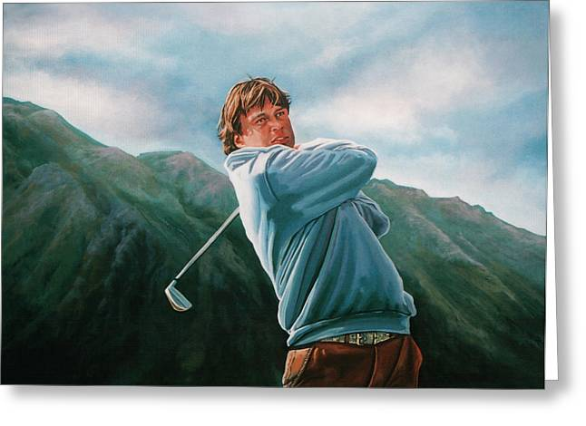 Golf Hole Greeting Cards - Robert Jan Derksen Greeting Card by Paul  Meijering