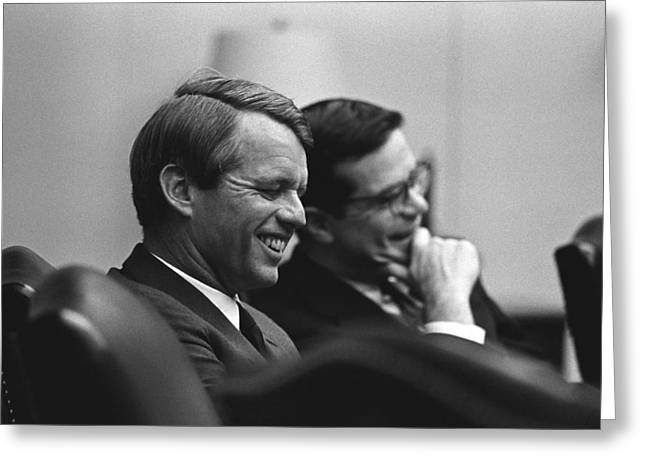 Democrat Photographs Greeting Cards - Robert Kennedy Greeting Card by War Is Hell Store