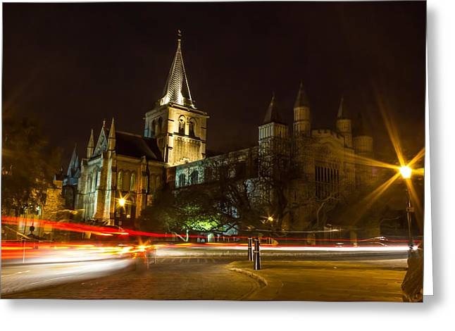Medway Greeting Cards - Rochester cathedral Greeting Card by Ian Hufton
