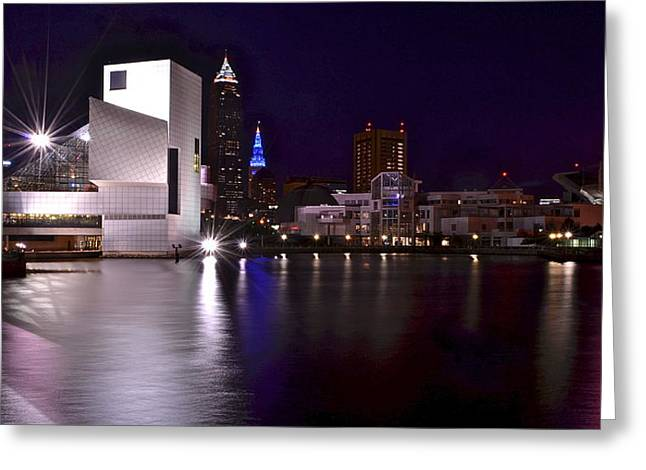 Rock and Roll Hall of Fame Greeting Card by Frozen in Time Fine Art Photography