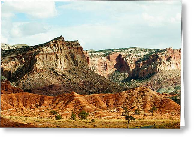 Capitol Greeting Cards - Rock Formations On A National Park Greeting Card by Panoramic Images