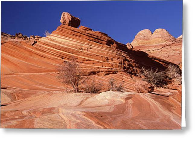 Arid Landscapes Greeting Cards - Rock Formations On An Arid Landscape Greeting Card by Panoramic Images