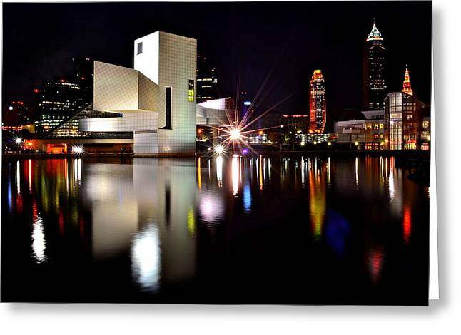 Wow Greeting Cards - Rock n Roll Hall of Fame Greeting Card by Frozen in Time Fine Art Photography