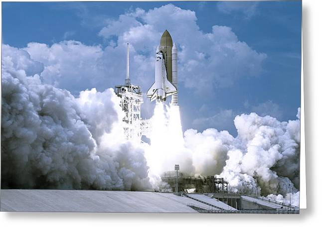 Rocket Launch Greeting Card by Celestial Images