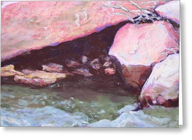 Oak Creek Pastels Greeting Cards - Rocks in the Stream Greeting Card by Marsha Wright