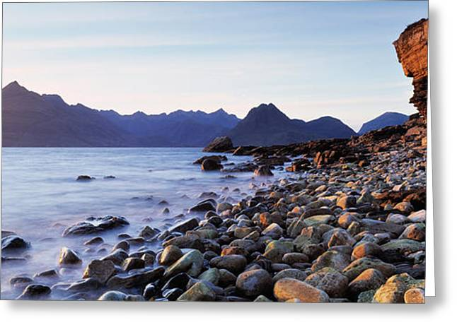 Rock Face Greeting Cards - Rocks On The Beach, Elgol Beach, Elgol Greeting Card by Panoramic Images