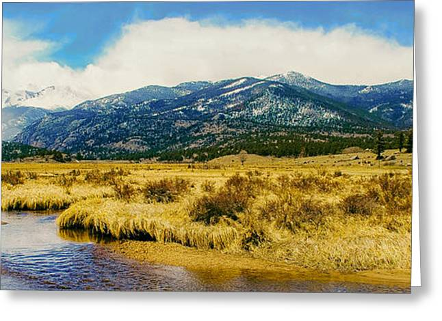Beautiful Creek Greeting Cards - Rocky Mountains Panorama Greeting Card by Josh Bauer