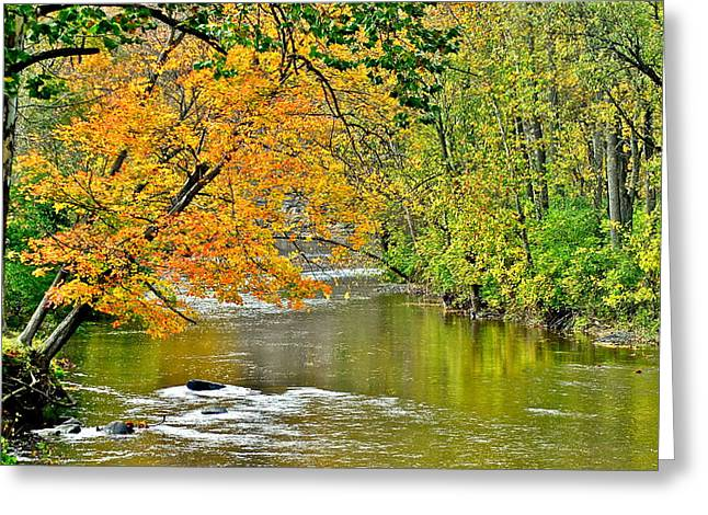 Yahweh Greeting Cards - Rocky River Ohio Greeting Card by Frozen in Time Fine Art Photography