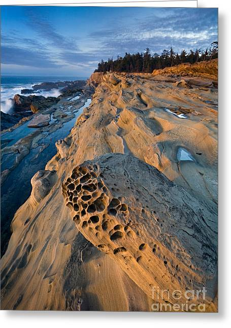 Ocean Shore Greeting Cards - Rocky Shore Greeting Card by Sean Bagshaw