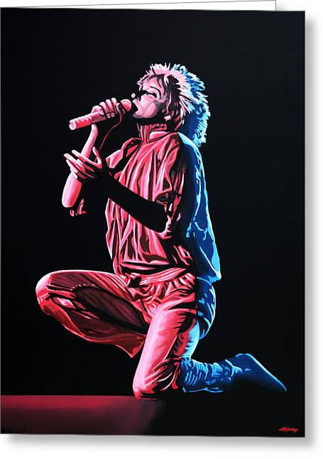 Stewart Greeting Cards - Rod Stewart Greeting Card by Paul  Meijering