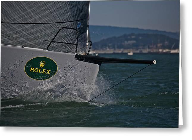 Rolex San Francisco Greeting Card by Steven Lapkin