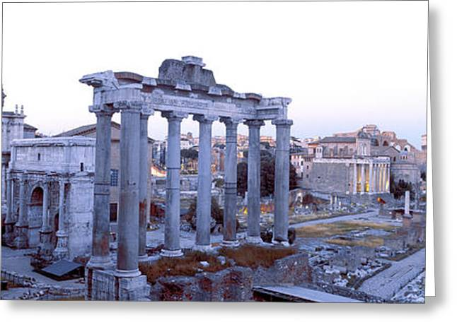 Republican Photographs Greeting Cards - Roman Forum Rome Italy Greeting Card by Panoramic Images