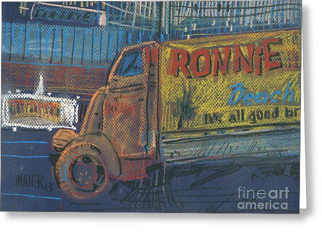 Truck Drawings Greeting Cards - Ronnie Johns Greeting Card by Donald Maier