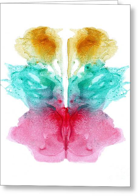 Psychological Background Greeting Cards - Rorschach Type Inkblot Greeting Card by Spencer Sutton