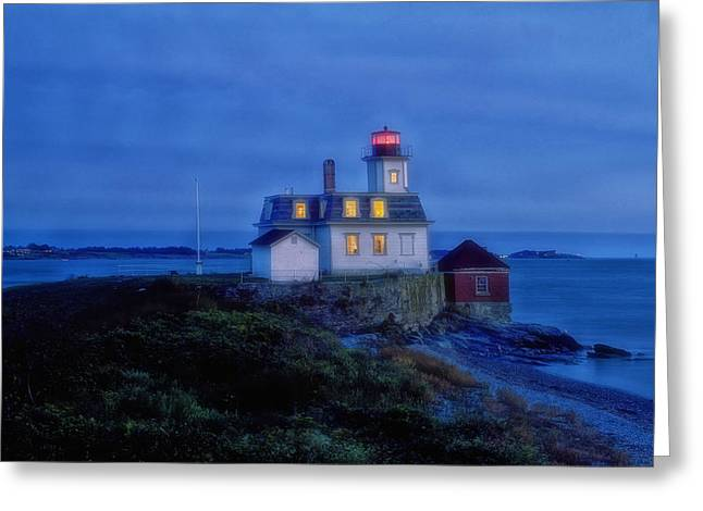Rose Island Lighthouse Greeting Card by Mountain Dreams