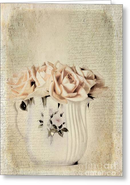 Centerpiece Greeting Cards - Roses Greeting Card by Darren Fisher
