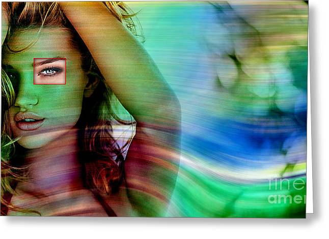 Perfume Fragrance Scent Launch Greeting Cards - Rosie Huntington Greeting Card by Marvin Blaine
