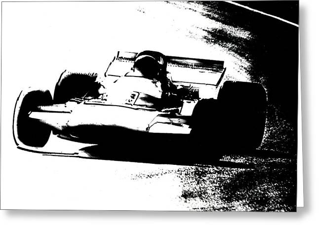 Canadian Grand Prix Greeting Cards - Rounding the Bend Greeting Card by Mike Flynn
