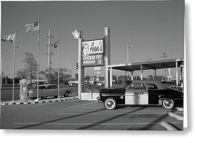 Police Art Greeting Cards - Route 66 - Anns Chicken Fry House Greeting Card by Frank Romeo