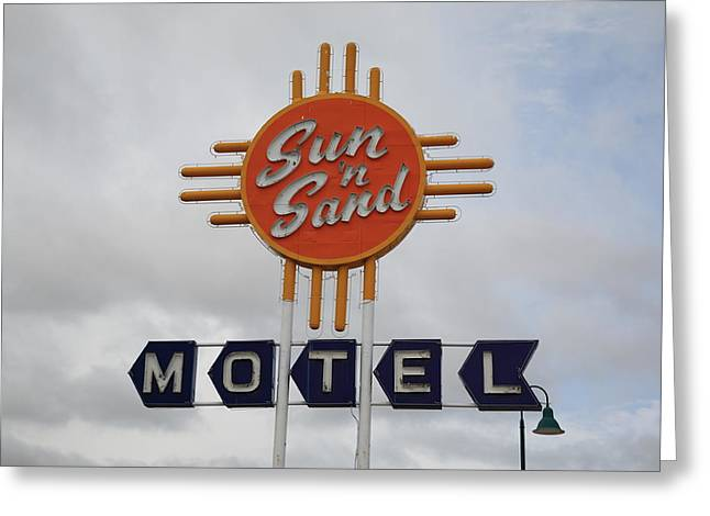 Route 66 - Santa Rosa New Mexico Greeting Card by Frank Romeo