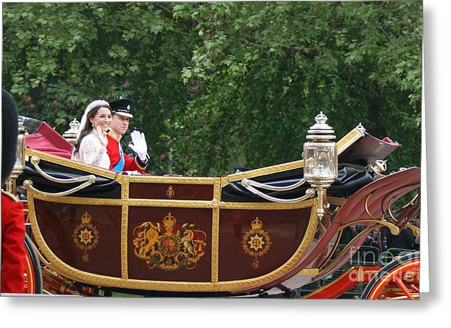 Duchess Of Cambridge Photographs Greeting Cards - Royal Wedding Greeting Card by Mariusz Czajkowski