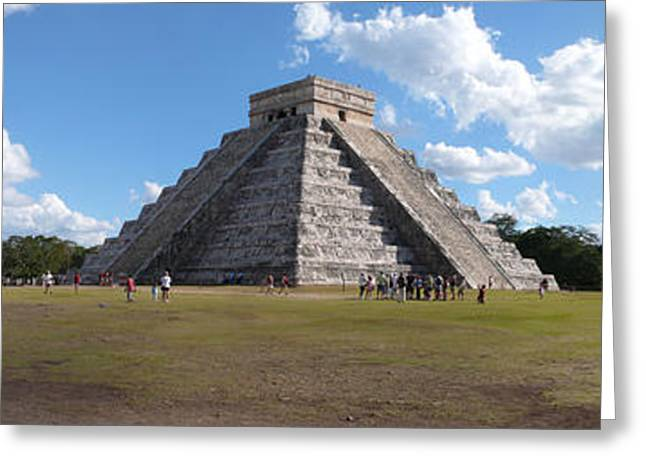 Mexican Culture Greeting Cards - Ruins Of A Pyramid, Kukulkan Pyramid Greeting Card by Panoramic Images