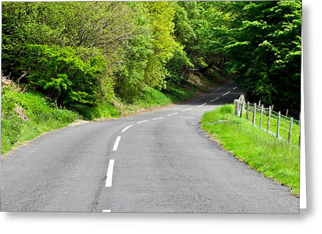 Scenic Drive Greeting Cards - Rural road Greeting Card by Tom Gowanlock