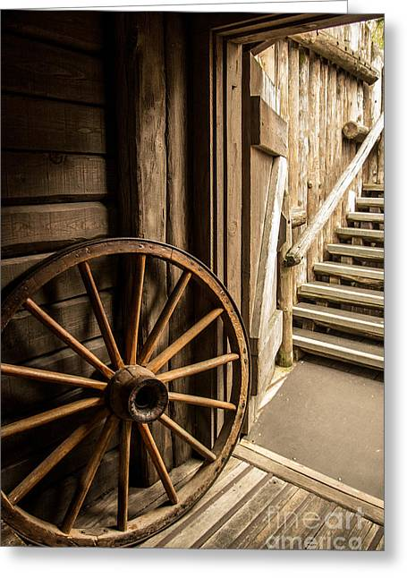 Rustic House Greeting Cards - Rural Wertern Greeting Card by Carlos Caetano