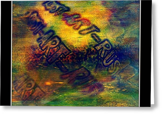 Rust-art 04 Greeting Card by Gertrude Scheffler