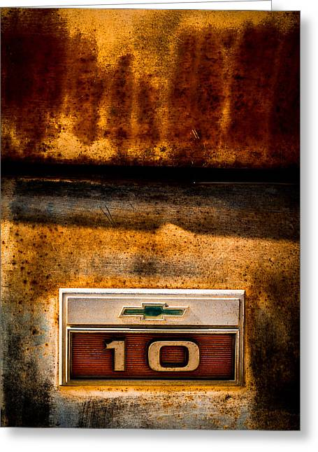 Indy Car Greeting Cards - Rusted C10 Greeting Card by Ron Pate