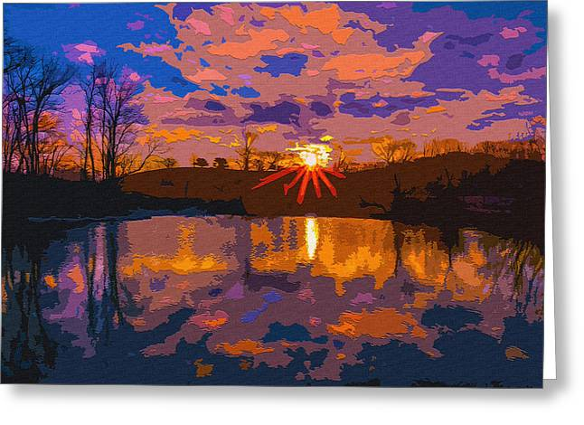 Beautiful Scenery Greeting Cards - Rustic Acres Sunrise Greeting Card by Brian Stevens