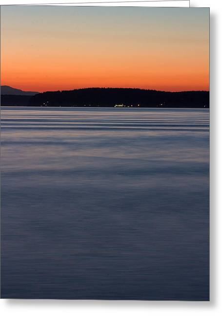 Ruston Greeting Cards - Ruston Way Tacoma Sunset Greeting Card by Bob Noble Photography