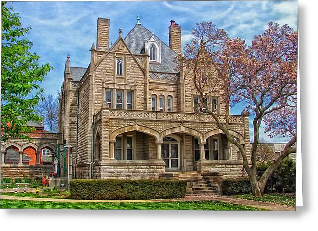 Sacred Heart Rectory - Davenport Iowa Greeting Card by Mountain Dreams
