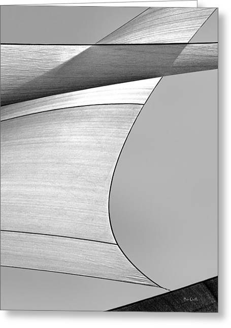 Uplifted Greeting Cards - Sailcloth Abstract Number 4 Greeting Card by Bob Orsillo