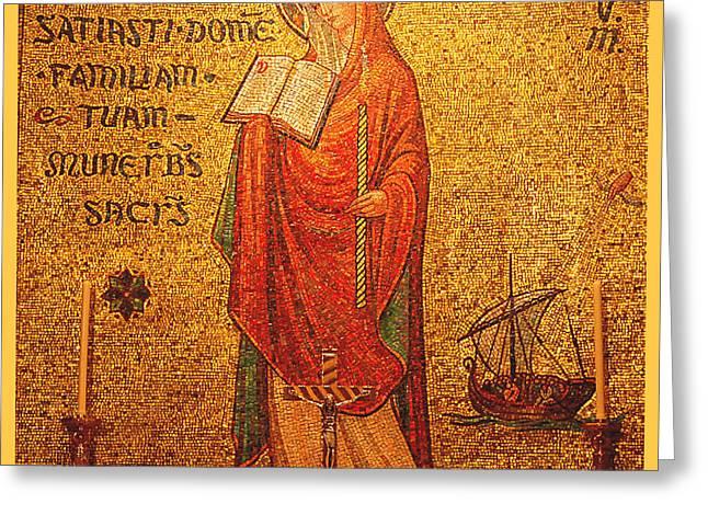 Saint Anastasia Altar Greeting Card by Philip Ralley