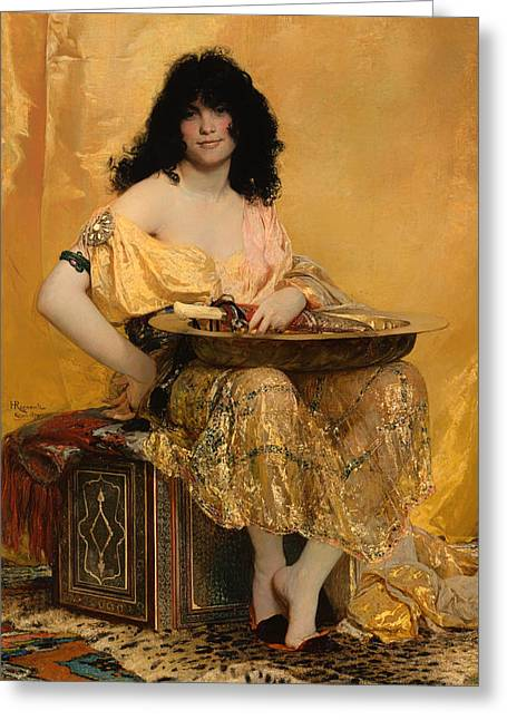 Salome Greeting Cards - Salome Greeting Card by Henri Regnault