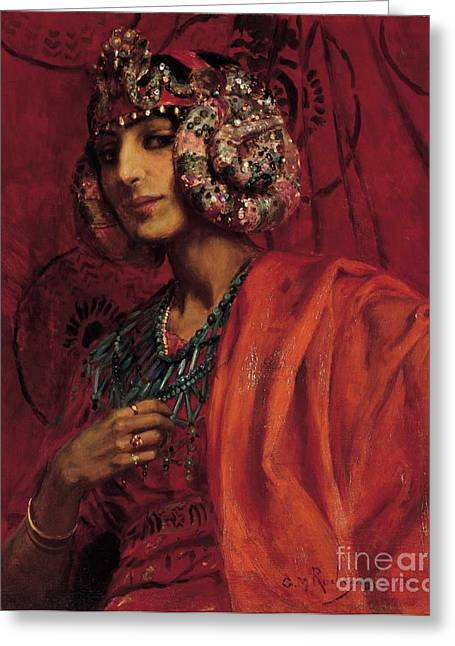 Salome Greeting Cards - Salome Greeting Card by Pg Reproductions