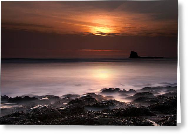 Saltwick Bay Greeting Card by Svetlana Sewell