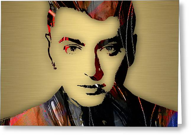 Recently Sold -  - Pop Singer Greeting Cards - Sam Smith Collection Greeting Card by Marvin Blaine