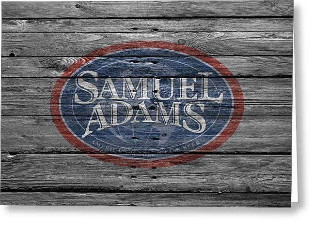 Samuel Adams Greeting Card by Joe Hamilton
