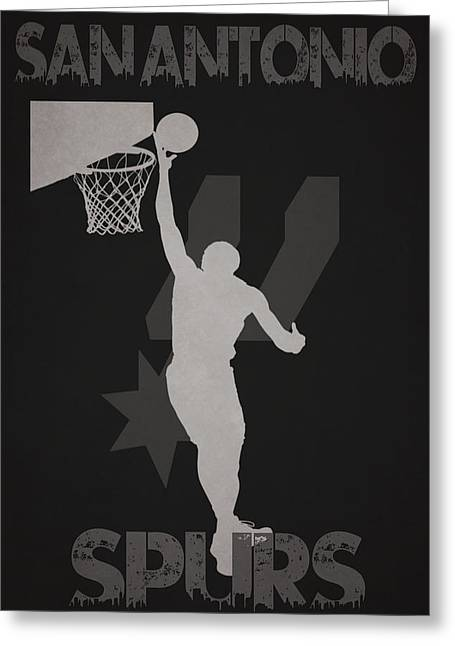 Nba Iphone Cases Greeting Cards - San Antonio Spurs Greeting Card by Joe Hamilton