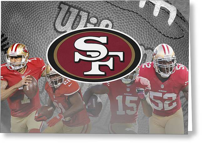 San Francisco 49ers Greeting Card by Joe Hamilton
