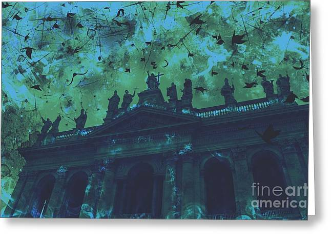 San Giovanni In Laterano Greeting Cards - San Giovanni in Laterano Church Rome Italy Greeting Card by Marina McLain