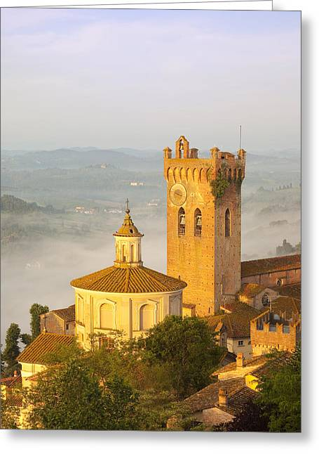 Tuscan Hills Greeting Cards - San Miniato Greeting Card by Brian Jannsen