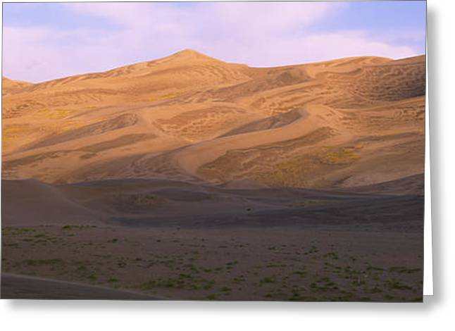 Great Sand Dunes National Park Greeting Cards - Sand Dunes In A Desert, Great Sand Greeting Card by Panoramic Images